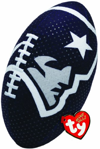 Ty Beanie Ballz NFL RZ New England Patriots Football Plush