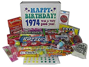 1974 40th Birthday Gift Basket Box Retro Nostalgic Candy From Childhood Jr