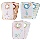 Babycalin Lot de 2 Bavoirs Encolure Bord C�te