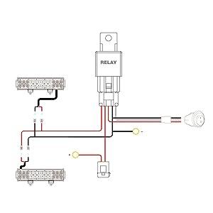 Nilight led light bar wiring harness kit 12v on off switch power nilight led light bar wiring harness kit 12v on off switch power relay blade fuse for aloadofball Gallery