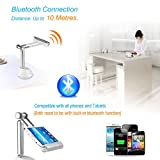 Excelvan 3 in 1 Bluetooth Speaker Holder Mount Microphone LED Lamp for Samsung iPhone ipad tablet + USB Cable