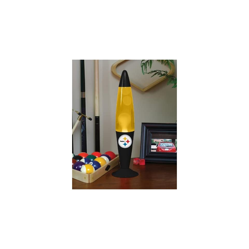 PITTSBURGH STEELERS Team Logo 16 MOTION / LAVA LAMP in Team Colors