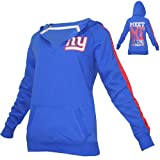 WOMENS Pink Victoria's Secret NFL New York Giants Athletic Pullover Hoodie / Sweatshirt Jacket - Blue (Size: XS)