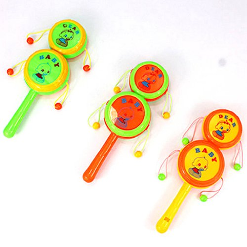 YOYOSTORE 1 Mix Color Rattle Drum Percussion Child Kid Whistl Musical Toy Baby Hand Fun -- Randomly (Whistls compare prices)