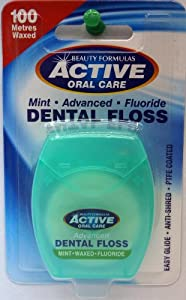Beauty Formulas Active Advanced Mint Waxed + Fluor 100 m