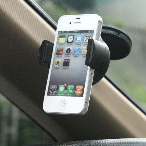 i-Beans (TM)正規品代理店 スマートフォン車載ホルダー Mini吸盤車載ホルダー ブラック docomo Xperia A SO-04E / Xperia Z SO-02E / Galaxy S4 SC-04E / iPod / iPhone / GPS / PDA / PSPや各携帯電話対応 windshield car holder (1422)