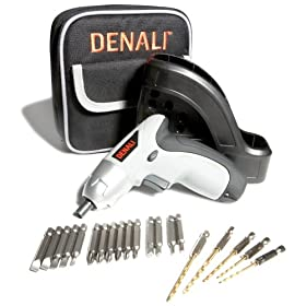 Denali 3.6-Volt Lithium Ion Cordless Screwdriver Kit with Wall-Mountable Charger