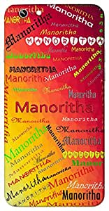 Manoritha (Popular Girl Name) Name & Sign Printed All over customize & Personalized!! Protective back cover for your Smart Phone : Moto X-STYLE