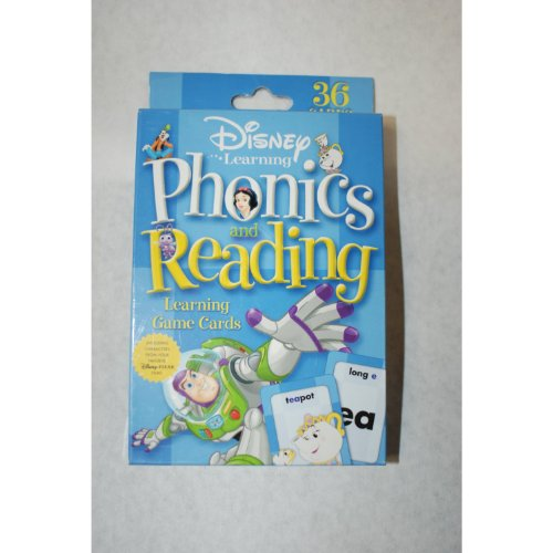 Disney Learning Phonics and Reading Learning Game Cards - 1