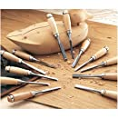 Grizzly G8083 12-Piece Carving Chise Length Set