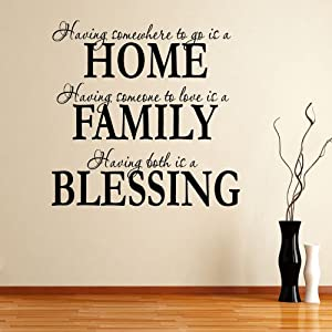 Having somewhee to go is a home family for Living room decor quotes