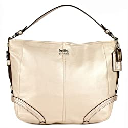 Coach Leather Chelsea Katarina Hobo Handbag 18901 Metallic Champagne