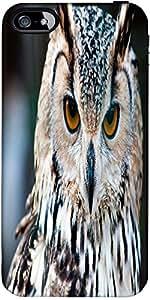 Snoogg Owl Close Up Portrait Designer Case Cover For Apple Iphone 5C / 5C