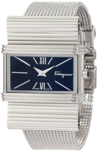 Ferragamo Women's F69MBQ9999 S099 Renaissance Steel Bracelet Black Dial Watch