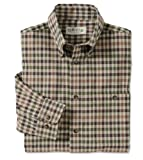 Signature Twill Country Plaids / Signature Twill Long-sleeved Shirt, Khaki Check, X Large
