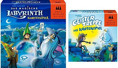 Drei Magier Spiele - Kartenspiel-Double - Das Magische Labyrinth + Geistertreppe