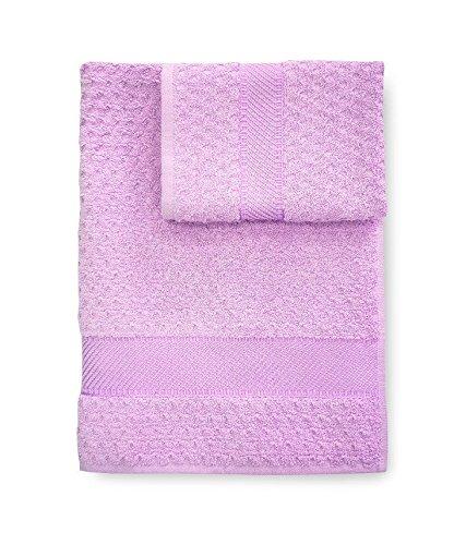 Set asciugamani Bagno spugna Sirena asciugamano + ospite CALEFFI -Lilla