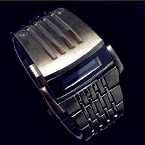 Xinte Special Men'S Creative Iron Man Style Robot Electronic Digital Led Wrist Watch Steel Wristwatch