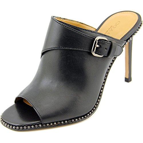 Coach Maple Women US 8.5 Black Peep Toe Mules (Coach Slide Wedges compare prices)
