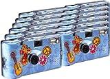 TopShot Flower Power Einwegkamera / Hochzeitskamera (27 Fotos, Blitz, 12-er Pack)