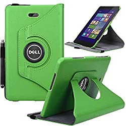 Dell Venue 8 Pro Case, E LV Dell Venue 8 Pro Case Cover 360 rotating Lightweight case for Venue 8 Pro 32GB 64GB Tablet (Windows Tablet) (will only fit Dell Venue 8 Pro tablet) - GREEN