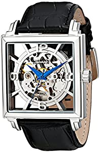 """Stuhrling Original Men's 333N.33152 """"Classic Winchester Plaza"""" Stainless Steel Automatic Watch with Leather Band"""