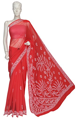 ADA-Lucknow-Chikankari-Hand-Embroidered-Designer-Ethnic-Georgette-Saree-With-Blouse-A120052
