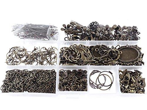 riesiges bastelset vintage bronze mit ber 400 teilen. Black Bedroom Furniture Sets. Home Design Ideas