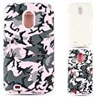 Cell Armor Jelly Case for Samsung Epic 4G Touch - Retail Packaging - Random Shapes on Pink Camouflage