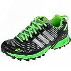 Mens Adidas Thrasher 1.1 Running Shoes Grey/Black/Green C76328 Size 9.5