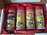 Obie-Cues Texas Gift Box, 4 bottles - BBQ Legend Assortment (Sweet n Heat, Celerbration, Sunshine & BBQ Bomber)