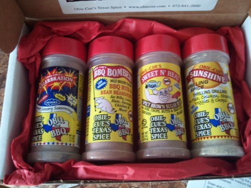 Obie-Cue's Texas Gift Box, 4 bottles - BBQ Legend