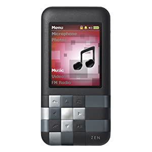 Creative Zen Mozaic Mosaic 8GB MP3 Player, Voice Recorder, Speaker - Black