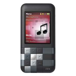 Creative Zen Mozaic Mosaic 8GB MP3 Player, Voice Recorder, Speaker - Black