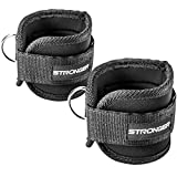 #1 Premium Ankle Straps By Stronger (2 Pk) ✦ Maximize Cable Machine Workouts with Durable Cuffs for Ab, Leg & Glute Exercises ✦ First Rate Fitness Equipment for Women & Men