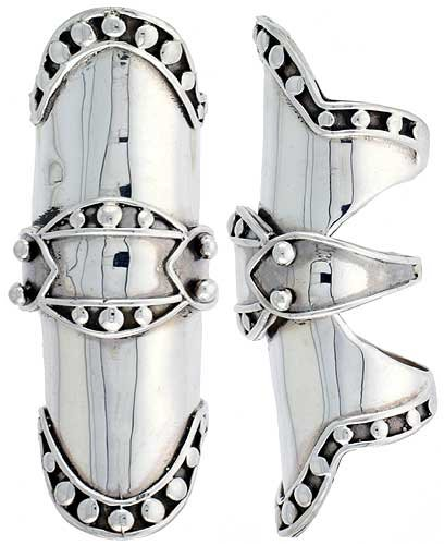 finger armor ring. Sterling Silver Finger Armor