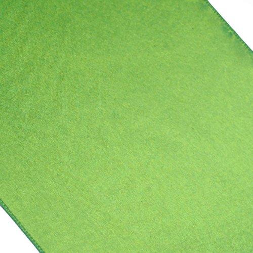 Koyal Satin Table Runner, 12-Inch X 108-Inch, Kiwi Green front-763271