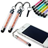2xNo1accessory new champagne crystal shaft stylus pen for Samsung Galaxy S GT i9000