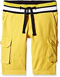 UFO Boys' Shorts (AW16-NDF-BKT-571_Yellow_8 - 9 years)