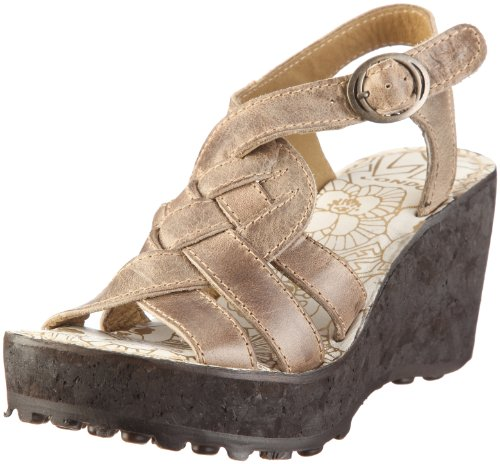 Fly London Women's Grin Light Grey Wedge P141544021 7 UK