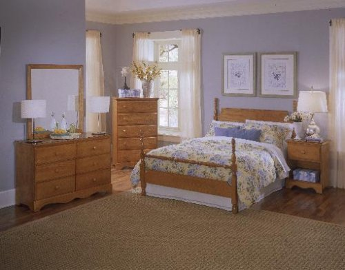 Oak Full Size Poster Bedroom Set