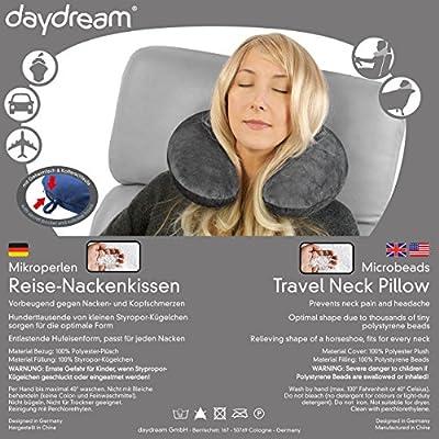 daydream: Reise-Nackenkissen mit Mikroperlen