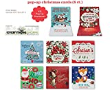 Christmas Holiday Cards Xmas Assorted Handmade Pop up Cards 6 Count Cards That the Whole Family Can Enjoy