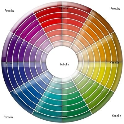 """Wallmonkeys Peel and Stick Wall Decals - Wheel Chromatic Colors - 18""""H x 18""""W Removable Graphic"""