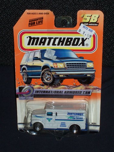 Matchbox 1999 #58 International Armored Car #58 of 100 1:64 Scale