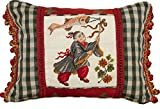 123 Creations Boy with Kite Petit Point Pillow with Fabric Trimmed, 16 W x 12 H