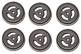 6 Piece Black Rubber Soft Ear Gels