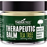 Therapeutic Balm with Tea Tree & Neem Oil. Antifungal. Helps Defend Against Common Causes of Skin Irritation, Athlete's Foot, Ringworm, Jock Itch, Eczema, Rough, Dry, Scaly, Cracked Skin