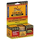 Tiger Balm Pain Relieving Ointment, Concentrated, Sports Rub, Ultra Strength, 0.63 oz (18 g)