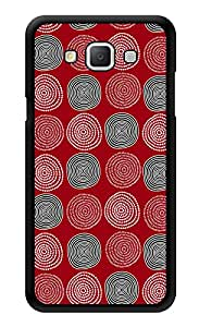 """Humor Gang Ethnic Abstract Pattern Red Printed Designer Mobile Back Cover For """"Samsung Galaxy A3"""" (3D, Glossy, Premium Quality Snap On Case)"""